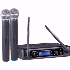 Microfone Sem Fio Karsect Duplo Mao Kru220 M - Loja Kadu Som