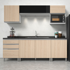 Cozinha Completa Com 2 Balcões E 3 Armários Aéreos, Vanilla,