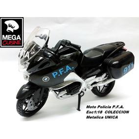 Moto Policia Pfa Bmw Coleccion Esc1:18 Metal