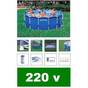 Piscina Intex 16805 Litros Escada Capa Bomba Filtro 220v