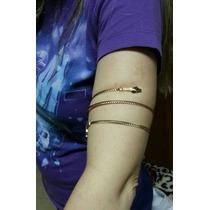 Pulseira Bracelete Braçadeira Espiral Cobra Prata Ou Dourado
