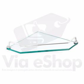 Porta Shampoo Prateleira Canto Cantoneira Vidro Transparente