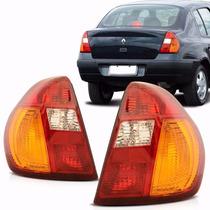 Par Lanterna Traseira Clio Sedan 00 01 02 03 04 05 Tricolor