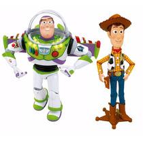 Toy Story Woody & Buzz - 40 Cm Falam Português 2 Unidades