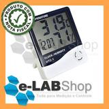 Termo-higrômetro Digital Termômetro Umidade Higrômetro C/ Nf
