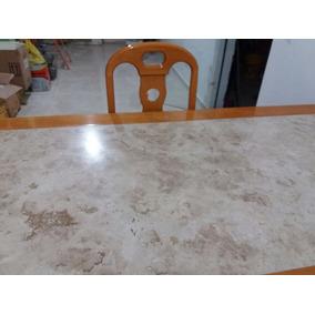Sala De Jantar Completa Em Madeira Marfim Mesa 8 Cadeiras
