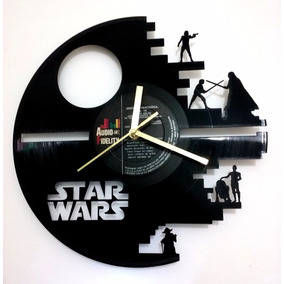 Reloj De Pared En Disco Vinilo Star Wars