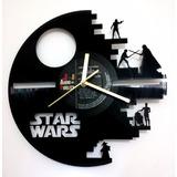 Reloj De Pared En Disco Vinilo Star Wars