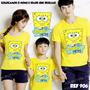 Lembrança De Aniversario Camiseta Bob Esponja Amarela Kit 3