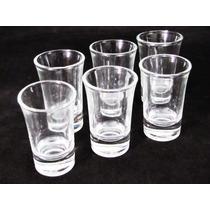 Jogo 6 Copo Dose Unica Vidro Vodka Pinga Licor