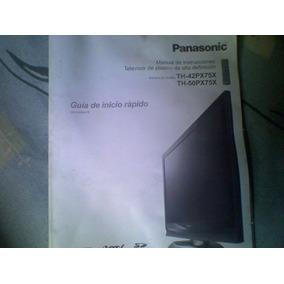 Manual De Usuario Tv Plasma Panasonic Mod. Th-42px75x