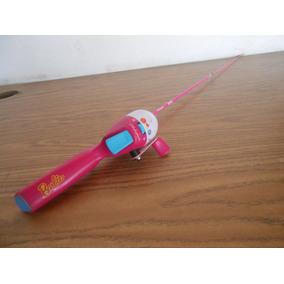 Caña De Pesca Para Niñas Marca Barbie Juguete #b558