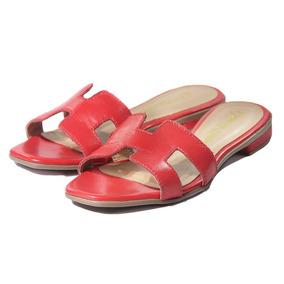 a0144041f80 Flat Hermes - Sandálias e Chinelos para Feminino Vermelho no Mercado ...