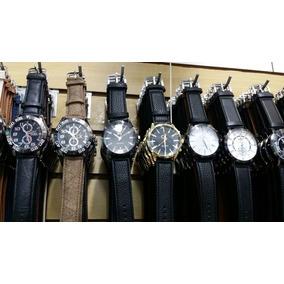 Kit Com 10 Relógios Masculino Pulseira De Couro Lindos Reven