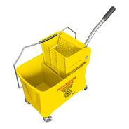Cubeta Exprimidora 20 L Amarilla De Plástico Resistente
