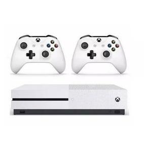 Xbox One S Original 500gb Com 02 Controles, 1 Jogo De Brinde