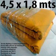 Encerado Ripstop 4,5x1,8 Algodão Amarelo Tecido Impermeável