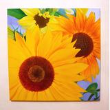 Cuadros Tripticos Polípticos Decorativos Florales Girasoles