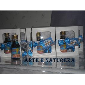 16 Garrafinha Personalizada Com Vinho 60ml Na Caixinha