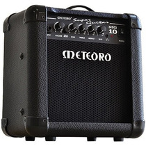 Cubo De Guitarra 10w Rms Super Guitar Mg10 Preto 2 Canais (