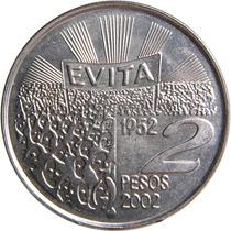 Argentina 2 Pesos 2002 Evita 40° Aniversario - Sin Circular