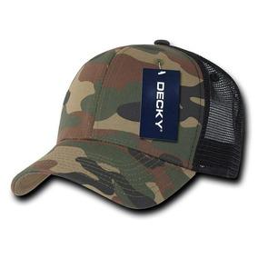 Gorra Decky Negro Camo 1054 Army Baseball Cap Original Wood