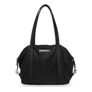 Bolsa Negra De Nylon Impermeable Satchel Y Crossbody