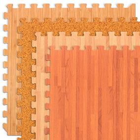 Bosque Piso De Madera De Grano, Grano De Corcho Y Bambú Vete
