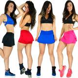 Short Saia Tapa Bumbum Feminino Fitness Ginástica Academia