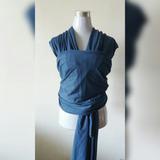 Fular Semi-elásticado Con Bolsillo Azul Piedra