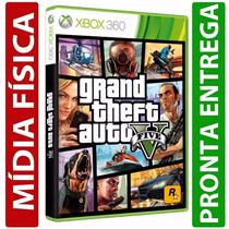Gta 5 Grand Theft Auto V Midia Fisica Original Xbox 360