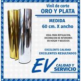 Vinil Autoadherible Adhesivo Metálico Espejo Oro, Plata -1mt