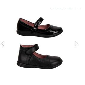 Kit De 2 Zapato Escolar Niña Negro 167733 Pit-18