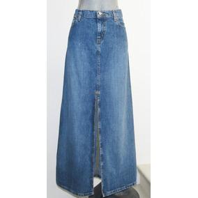 Polo Jeans /ralph Lauren Falda Larga De Mezclilla Talla 8