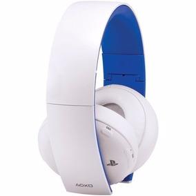 Headset Gold 7.1 Wireless Branco Sony Ps3 Ps4 Vita Original