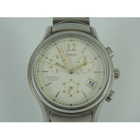 32259406533 Relógio Timex Masculino Mod  Indiglo - Wr 50 - Cronógrafo