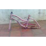 Cuadro De Bicicleta Keirin Rosa Rodado 14 Con Horquilla