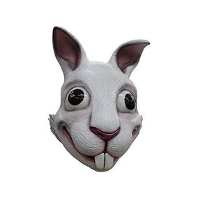 White Rabbit Adult Latex Mask Vivid Anime Cosplay Costume A