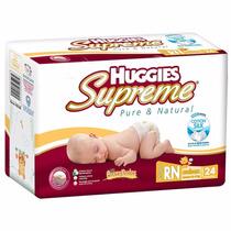 Pañales Huggies Supreme 192 Pañales Etapa Recién Nacido 8x24
