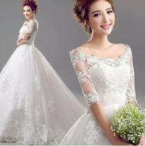 Vestido De Noiva Princesa Luxo Calda Pronta Entrega