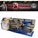 Mini Torno Mecanico Para Metales 300mm 500w Maxitools