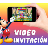 Video Invitación Mickey Bailando - Whatsapp, Facebook