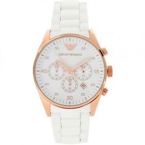Relógio Luxo Emporio Armani Ar5919 Branco Rose Original Sw12