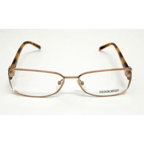 d93fe91302434 Óculos De Grau Victor Hugo Dourado Vh1114 Médio