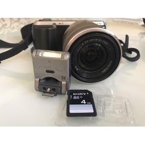 Câmera Sony Nex C3 16.2mp Flash + Lente 18-55 + Cartão 2g