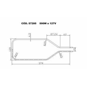 Resistencia Eletrica Forno Eletrico Layr Luxo 110v 220v 500w