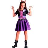 Fantasia Clawdeen Wolf Infantil C/ Tiara Monster High