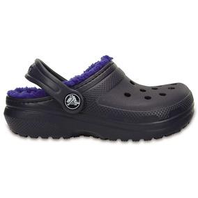 Crocs Originales Classic Lined Clog K Azul Niños 4eu