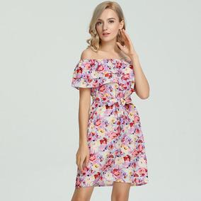 bb284229c6526 Vestidos Floreados Cortos Casuales - Vestidos de Mujer Rosa en ...