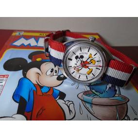 Relógio Mickey Mouse Mov Swiss 17 Rubis Garantia Nf